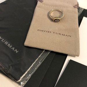 David Yurman Amethyst Gemstone Ring Sz 7